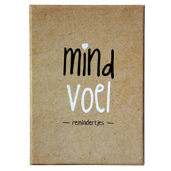 MINDVOEL REMINDERTJES - doosje mindfulness kaartjes basis -