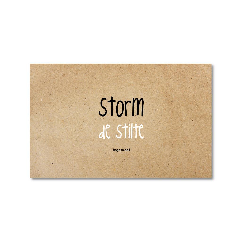 ZINVOL kaart - Storm de stilte tegemoet - 5 stuks