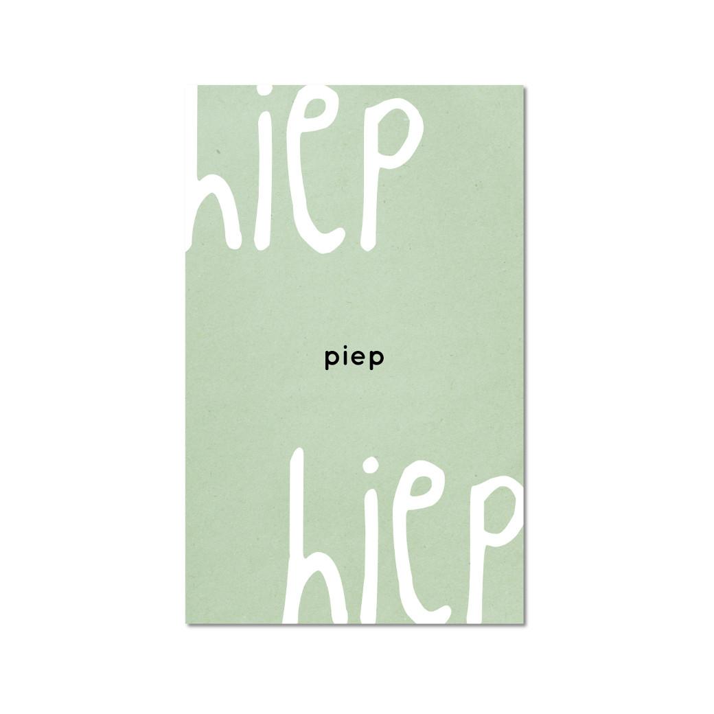 ZINVOL kaart - HIEP piep HIEP -
