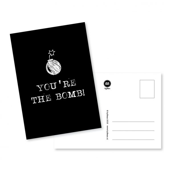 BY BEAN kaart - You're the bomb -