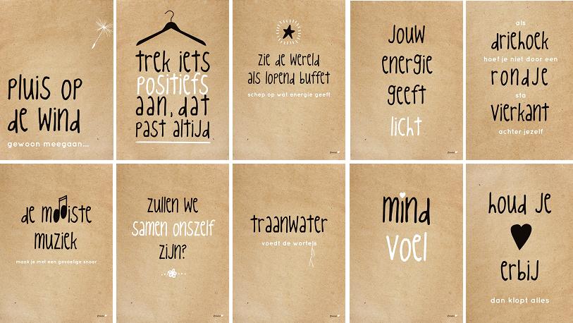 ZINVOL A4 kaart/poster -Serie Anders -