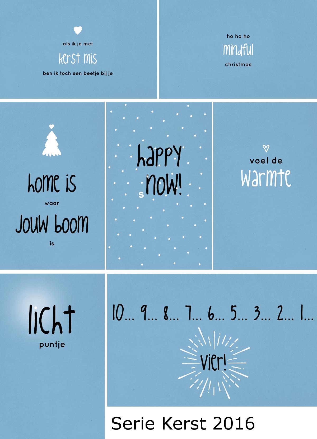 ZINVOL kaarten Kerst