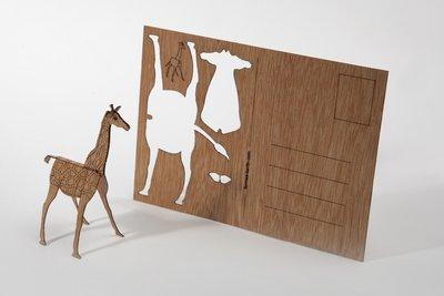 3D houten kaart Formes Berlin - Giraf -